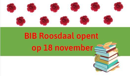 Heropening bib Roosdaal vanaf 18 novemeber 2020 op afspraak